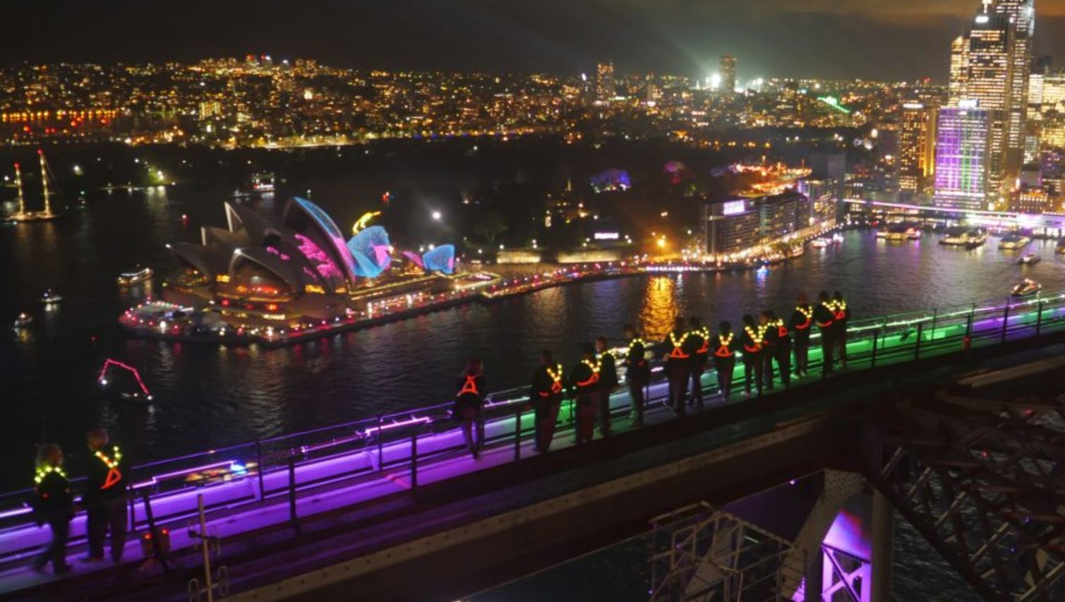 A chance to win Harbour Bridge Climb tickets during Vivid