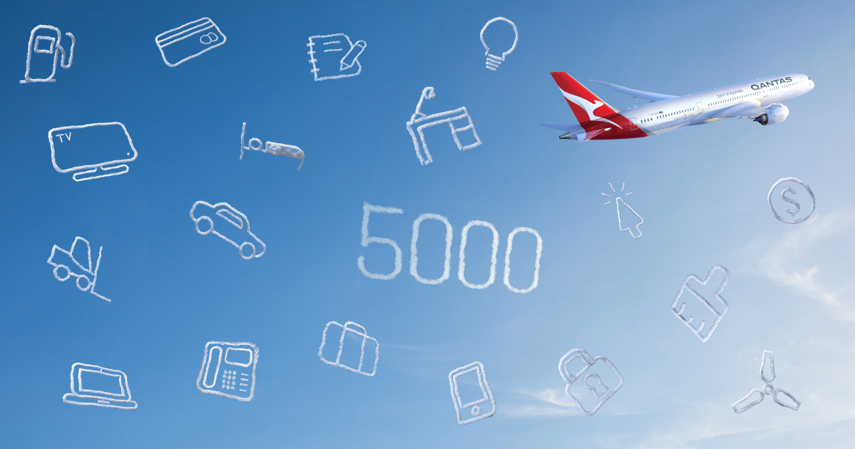 Join Qantas Business Rewards for 5,000 bonus points